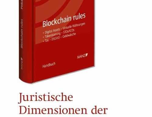 Blockchain rules – Neues Handbuch zum Recht der Blockchain-Technologie!
