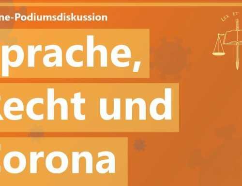 Online-Podiumsdiskussion: Sprache, Recht und Corona